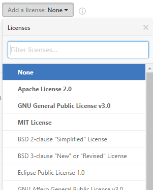 GitHub Choose an license