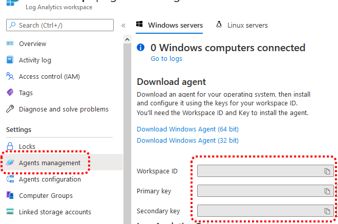 Azure Log Analytics Workspace Agents management